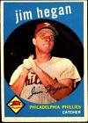 1959 Topps Jim Hegan Philadelphia Phillies #372 Baseball Card