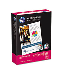 "HP Multipurpose Copy Print Paper 500 Sheets 20lb 96 Bright 8-1/2 x 11"" Ream"