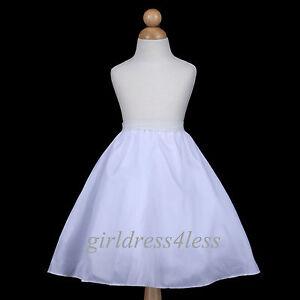 4-LAYER-FULL-WEDDING-FLOWER-GIRL-DRESS-SLIP-UNDERSKIRT-CRINOLINE-PETTICOAT-S-M-L