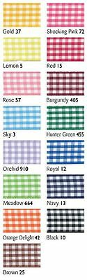 Berisfords Quality Polyester Gingham Ribbon 5mm X 20m 15 Colours In This Listing