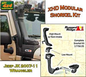 17756-20-039-NEW-039-Rugged-Ridge-Jeep-JK-2007-2011-XHD-MODULAR-SNORKEL-INTAKE-KIT