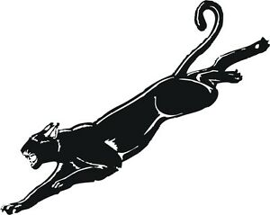Leaping Black Panther Vinyl Graphic Decal Sticker Ebay