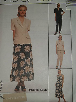 McCALL'S #8819-LADIES SUMMER TEA LENGTH NO SLEEVE DRESS-JACKET~PANT PATTERN 6-20