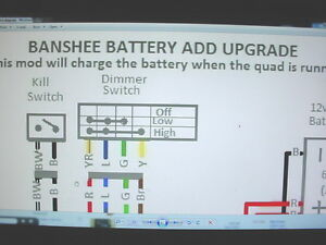 yamaha banshee stator battery ugrade wiring diagram engine motor image is loading yamaha banshee stator battery ugrade wiring diagram engine