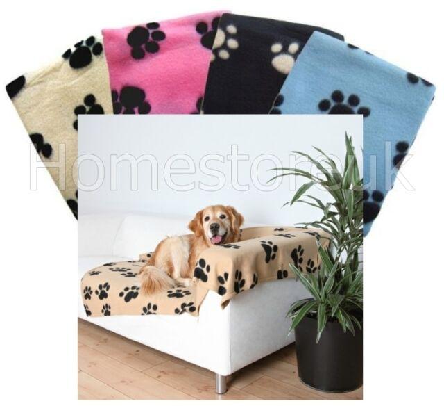 PET PAW BLANKET SOFT FLEECE WARM TRAVEL BED CAR BASKET MAT FOR DOG PUPPY CAT