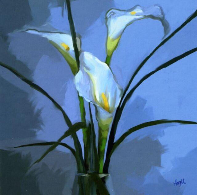 Quality Fine Art Floral Flowers Blank Greeting Card Glossy Many Designs Freepost