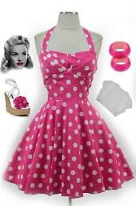 50s Style Pink Polka Dot Traveling Cupcake Truck Dress