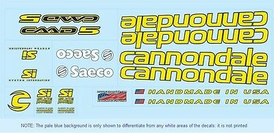 Cannondale Bicycle Decals-Transfers-Stickers #7