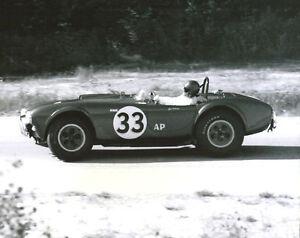Vintage-8-X10-1963-Road-America-Winner-Bob-Johnson-Cobra-Auto-Racing-Photo