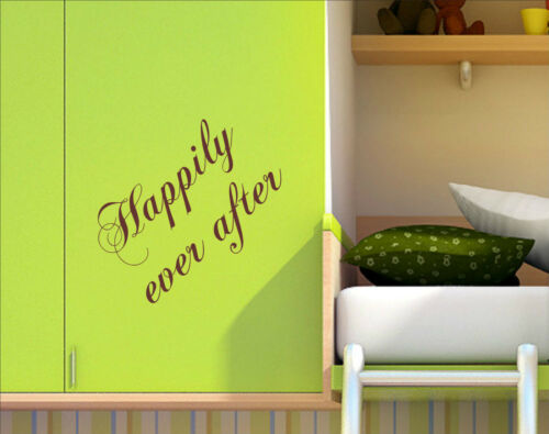 HAPPILY EVER AFTER Quotes decal sticker vinyl wall art home decoration HEA4