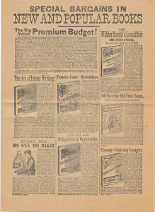 Vintage-1890-Bookseller-039-s-Catalog-Special-Bargains-in-New-and-Popular-Books-Rare