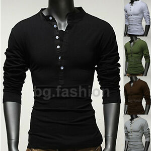 2012-New-Men-s-Basic-V-Neck-Tops-Muscle-Tee-Long-Sleeve-T-Shirt-5COLORS-S-M-L