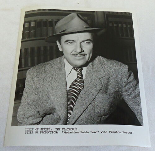 1953 press photo ~ PRESTON FOSTER ~ Manhattan Robin Hood