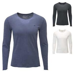 Jack-amp-Jones-Hommes-Chemise-manches-longues-O-Neck-Shirt-HOMME-Shirt-Basic-T-shirt-SALE