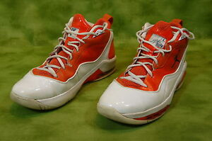 Nike Shoes Basketball Fly Wire MELD Men's 10.5 color Orange / White Rare