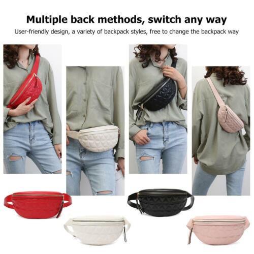 Fashion PU Leather Fanny Chest Bag Women Waist Pack Girls Shoulder Crossbody Bag