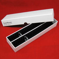 50 Penny Black Ring Type Airtite Coin Holders With 13 Capsule Storage Box