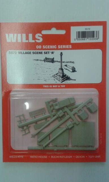 Village Scene Set A 1//76 Scale= 00 Gauge Plastic Kit 2nd Class Post Wills SS72