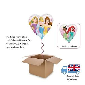 Image Is Loading HELIUM BALLOON IN A BOX DISNEY PRINCESS HEART