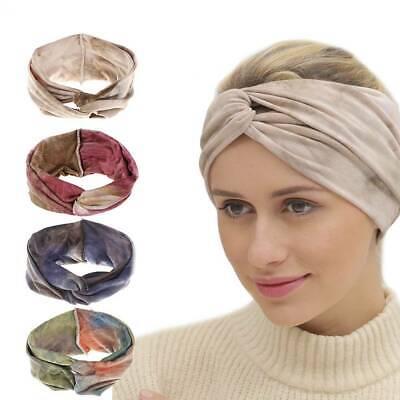 Damen Twisted Bandanas Turban Lace Hair Band Headwrap Wide Stirnband
