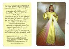 Prayer of Chaplet of the Divine Mercy (Lot of 2) Laminated catholic prayer cards