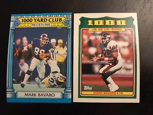 1987-1988-Topps-24-18-MARK-BAVARO-1-000-Yard-Club-New-York-Giants-Lot-2-Nice