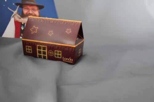 25 x Mini Geschenkbox Londa Haus rot//gold