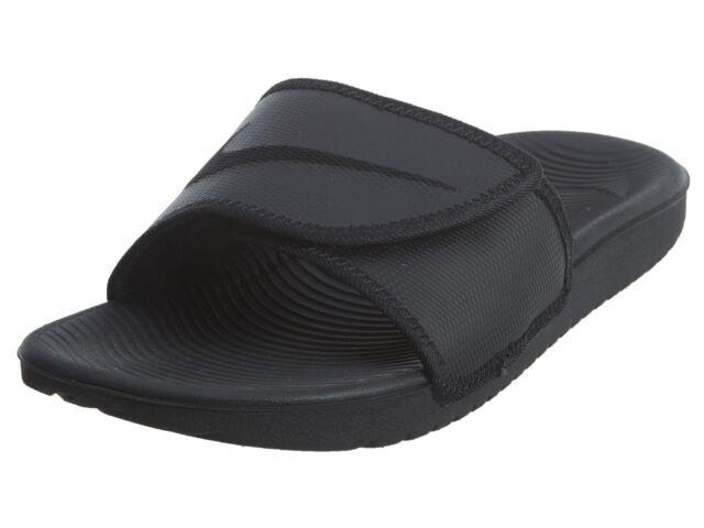 e7abd46986d2 Nike Kawa Adjust Mens 834818-002 Blackout Logo Adjustable Slide Sandals  Size 12