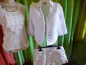T38-40-blanc-lot-femme-vetements-SHORT-KAPORAL-3pieces