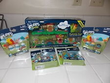 THE SMURFS MICRO VILLAGE SET PAPA SMURF SMURFETTE DELUXE PACK 4 EXTRA PACKS MIP