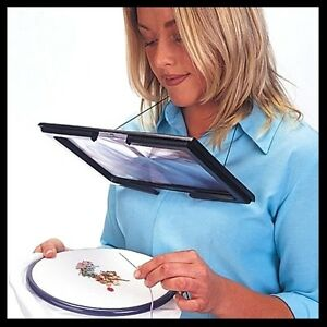 Giant Hands Free Magnifying Glass Reading Sewing Craft