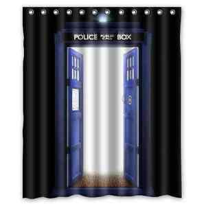 High Quality Bathroom Doctor Who Tardis Waterproof Shower