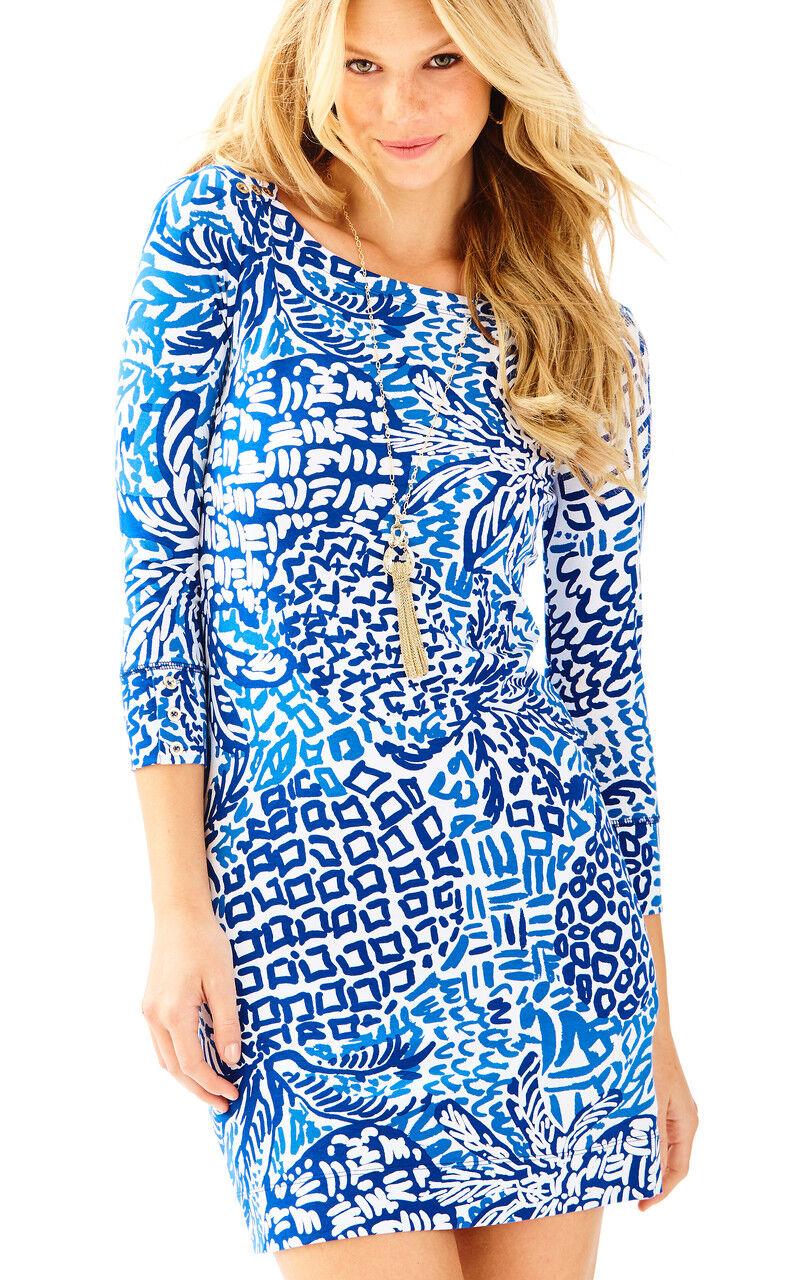 Lilly Pulitzer NWT UPF 50 Sophie Dress in Indigo Home Slice $138