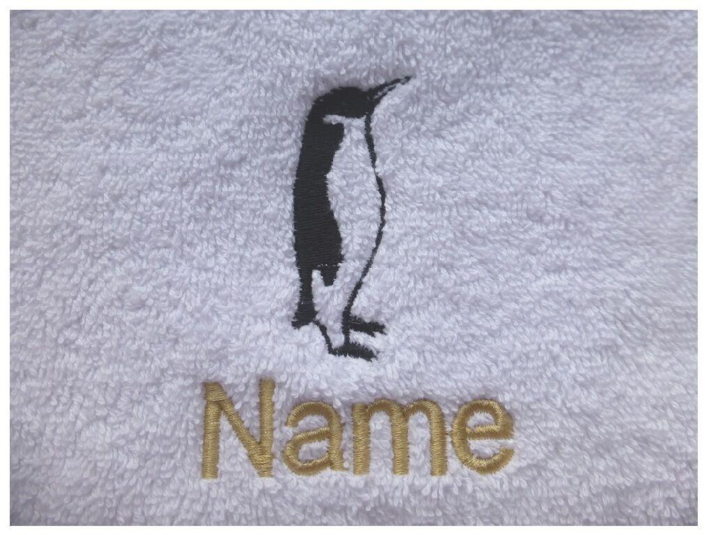 Pinguin Design Kapuzen Handtücher Bademäntel und Personalisierte Geschenk   | Vorzüglich