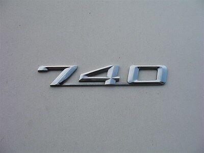 95 96 97 98 99 00 01 BMW 740 REAR TRUNK LID CHROME EMBLEM LOGO DECAL BADGE SIGN