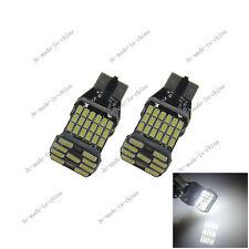 2X T15 White  45 SMD 4014 LED Light Bulb Canbus Error Free AC DC 12-24V 20132