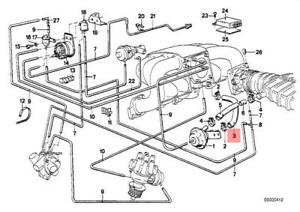 genuine bmw e21 e28 sedan egr vacuum control hose oem 11611284714 ebay rh ebay com 2000 BMW 323I Vacuum Diagram BMW Radiator Diagram