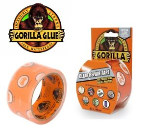 2-xGorilla-Tape-Crystal-Clear-Screen-Patch-Seal-Protect-Repair-Crack-48mm-x-8-2M