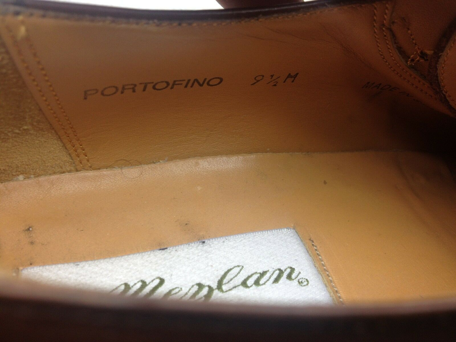 MADE IN SPAIN MEZLAN PORTOFINO PORTOFINO PORTOFINO BROWN LEATHER BUCKLE DRESS SHOES 9.5 D 2c48d0