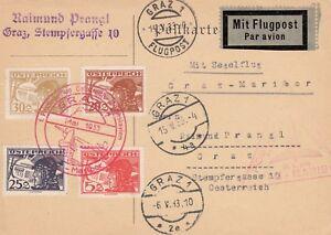 Jugoslawien Karte.Details Zu österreich 1 Postsegelflug österreich Jugoslawien Karte Mit Sonderstempel