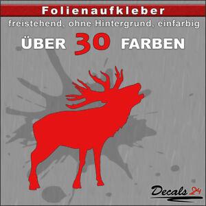 TR3-Hirsch-Aufkleber-Folienaufkleber-Auto-Wand-Motiv-30-Farben-H-5-10cm