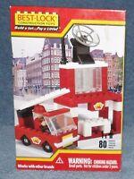 Best-lock Building Set 2008 Fire Truck Building Set 80 Pieces
