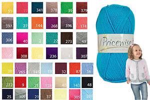 6bdca534304f King Cole Pricewise DK Knitting Wool 100g Ball 100% Acrylic Knitting ...
