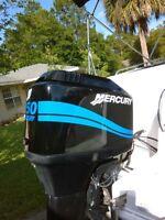 Mercury Outboard 25 - 275 Hp Big Foot Four Stroke Mercury Light Blue Outboard