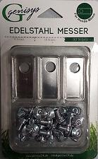 30  Edelstahl Messer Klingen &Schrauben Honda® Miimo geprüfte Qualität Preisgar.