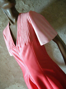 Vtg amp; Vintage Rose Chic Retro Annees Sixties Dress Top Rouge 38 Robe 60s 60 gZFWnH8W