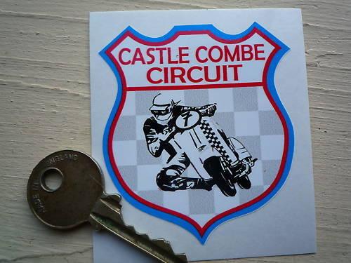 CASTLE COMBE CIRCUIT Classic Scooter Racing Shield STICKER Lambretta Vespa Race