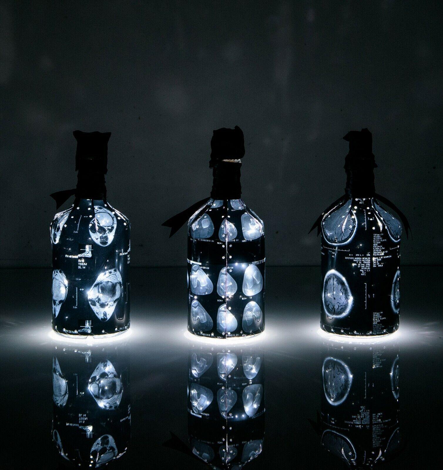 Bottiglia luminosa raggi x radiografia