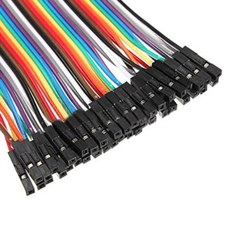 40x 10cm  Male to Female Jumper Wire Ribbon Cable Pi Pic Breadboard  MC
