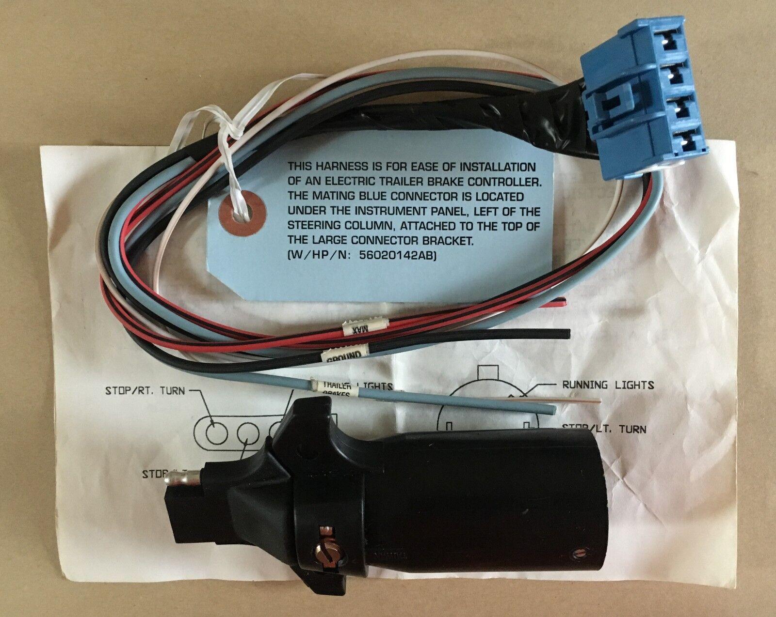 Dodge RAM Mopar 56020142AB Electric Trailer Brake Connector Wire | eBay